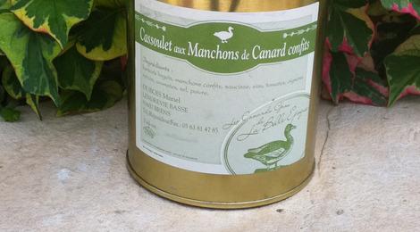 Cassoulet au manchons de canard confits 750g