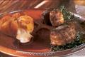 Tournedos de canard, polenta au chèvre