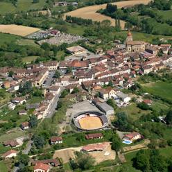 vue aérienne sur Aignan