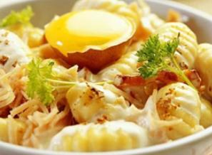 Recette gnocchi fa on carbonara - Cuisiner des gnocchis ...