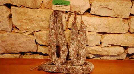 Saucisse sèche - Porc noir Gascon - Mas de Monille