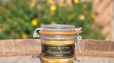 Foie gras de canard entier 180g - Ferme le Bayle