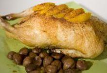 Canard rôti aux épices, et aux marrons