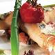 Croustillant de langoustines du Guilvinec, ratatouille et crème de Fourme d'Ambert