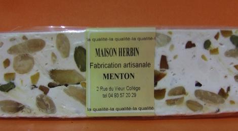 Nougat blanc aux écorces d'orange et citron confit