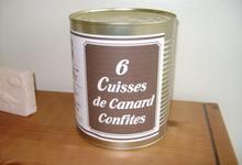 6 cuisses de canard confites