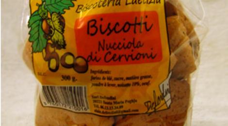 biscotti aux noisettes de Cervione