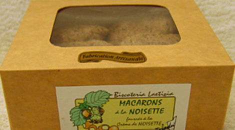 Maccarons noisettes/crème de noisette