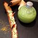 Gaspacho de concombre au kiwi, tartine de crabe par Brice Morvent