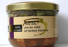 """Kig sal"" jus au cidre et herbes fraîches"