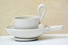 Tasse à brulot charentais beige avec palet