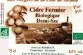 Cidre fermier biologique demi sec