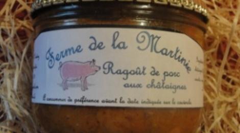 Ragoût de porc aux châtaignes 380 grs