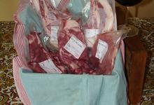 Colis de viande de porc noir