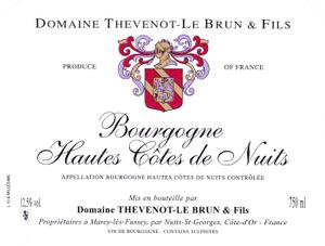 Vin rouge Bourgogne - Hautes Cotes de Nuits 2010