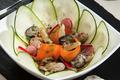 Salade d'huîtres de Normandie tièdes & sauce soja