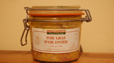 Foie gras d'oie entier 300 grs
