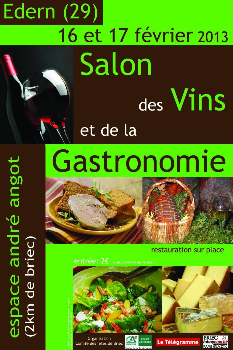 Salon des vins et de la gastronomie edern 29510 for Calendrier salon des vins