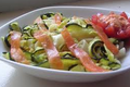 Tagliatelles de courgettes au saumon