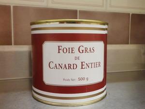 Foie gras de canard entier 500 grs