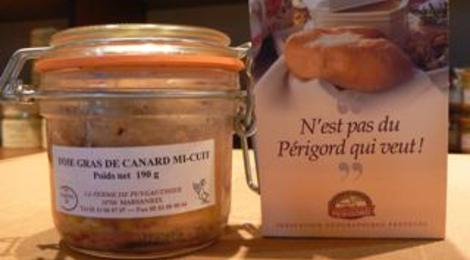 Foie gras entier de canard mi-cuit 400 grs