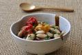 Salade de Haricots Tarbais au citron confit, cumin et tomates rôties
