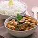 Haricots Tarbais à l'Indienne aux aubergines et riz Basmati au citron