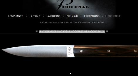 9.47 ébène de Macassar - Coffret de 6 couteaux