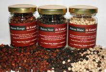 ensemble de 3 poivres de Kampot