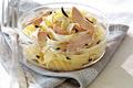 Tagliatelles fraîches au bloc de foie gras de canard et aux truffes