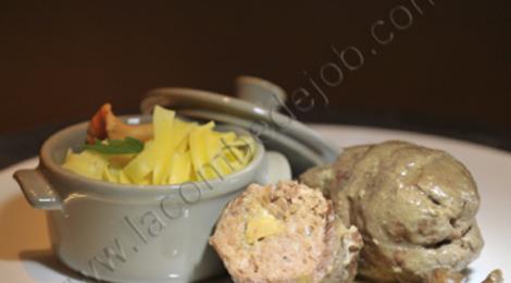 Paupiettes de canard au foie gras