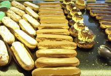 Pâte à choux  éclairs chocolat, café, oranger ; glands, salambo, paris brest, chouquettes