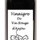 vinaigre de vin au miel   ( vin Rouge d'Anjou )