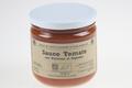 Sauce aux tomates anciennes et aux poivrons rouges.