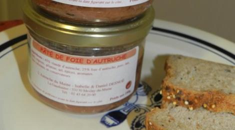 Pâté de foie d'autruche