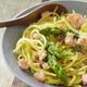 Spaguettis printanniers aux asperges vertes et saumon sans gluten