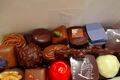 Ballotin garni de chocolats maison