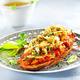Tostada de seiches rôties sur compotée de tomates