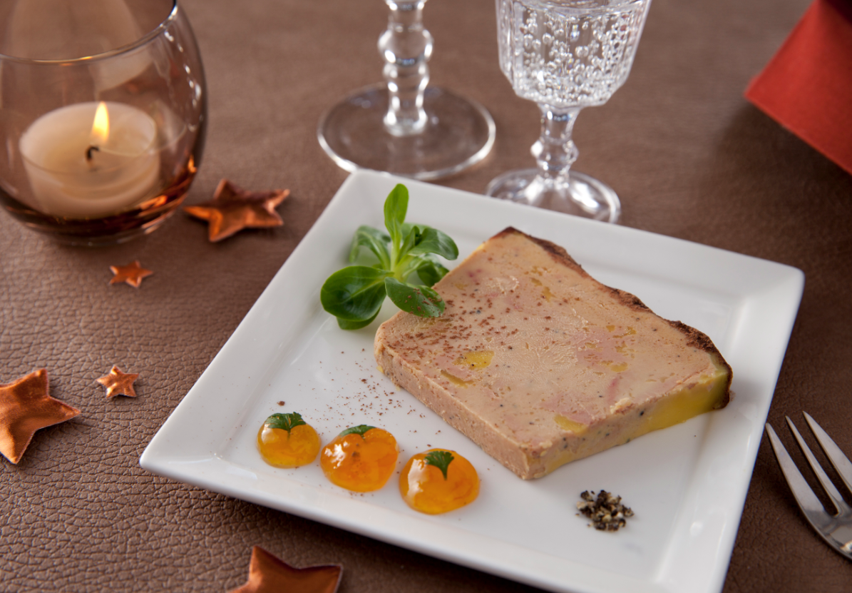 recette terrine vichy celestins de foie gras mi cuit aux abricots et cacao. Black Bedroom Furniture Sets. Home Design Ideas
