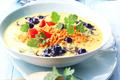 Curry aux lentilles rouges et aux myrtilles