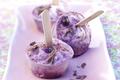 Muffins glacés aux myrtilles