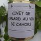 Civet de canard au vin de Cahors,  Ferme de Larcher
