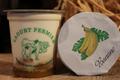 yaourts fermiers sur lit de bananes