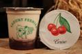 yaourts fermiers sur lit de cerises