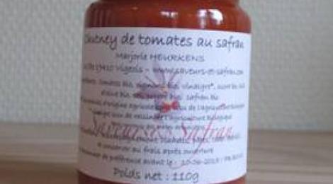 Chutney de tomates au safran