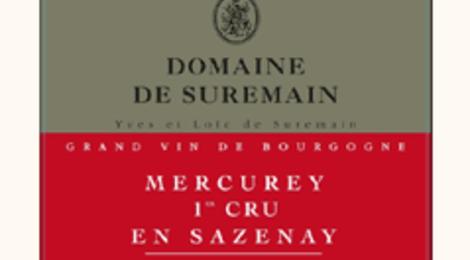 domaine de Suremain - MERCUREY 1er CRU En SAZENAY