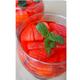 Aspics de fraises pochées à la vanille, granité au crémant de Bourgogne