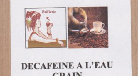 décaféiné en grain