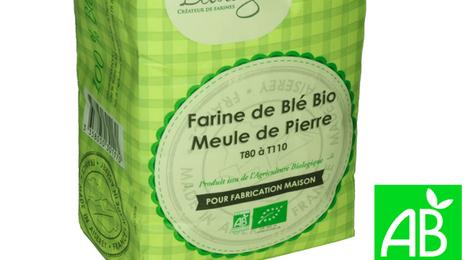 Farine de blé bio Meule de pierre T80 à T110