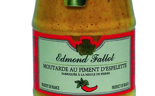 Fallot moutarde au piment d 39 espelette - Moutarde fallot vente ...